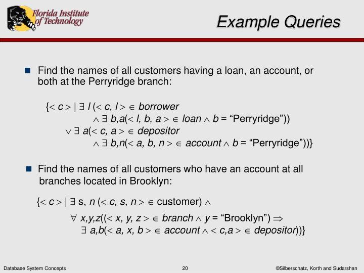 Example Queries