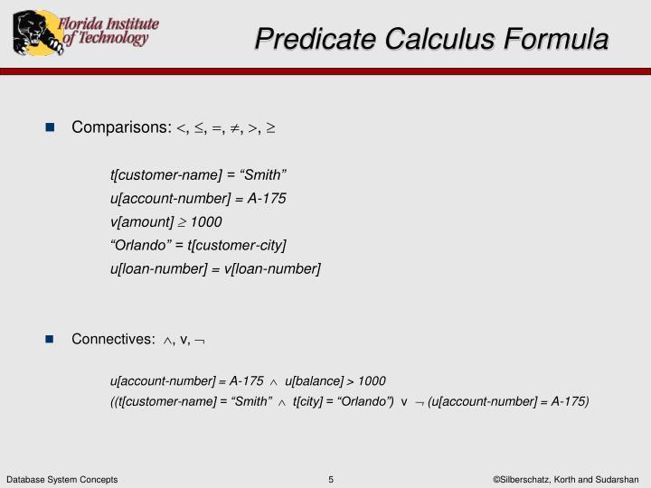 Predicate Calculus Formula