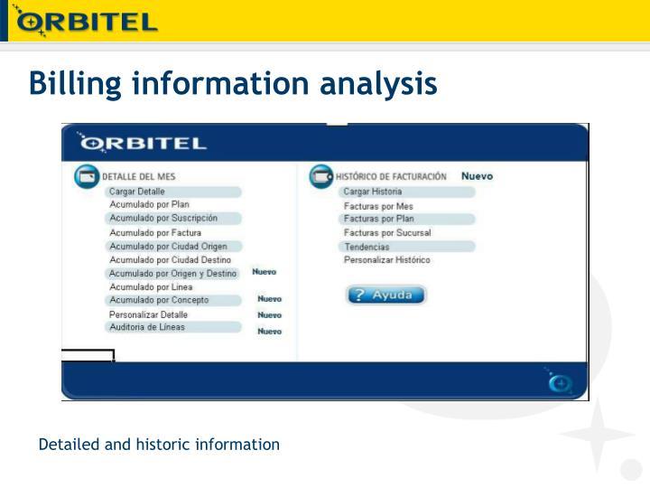 Billing information analysis