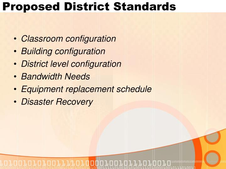 Proposed District Standards