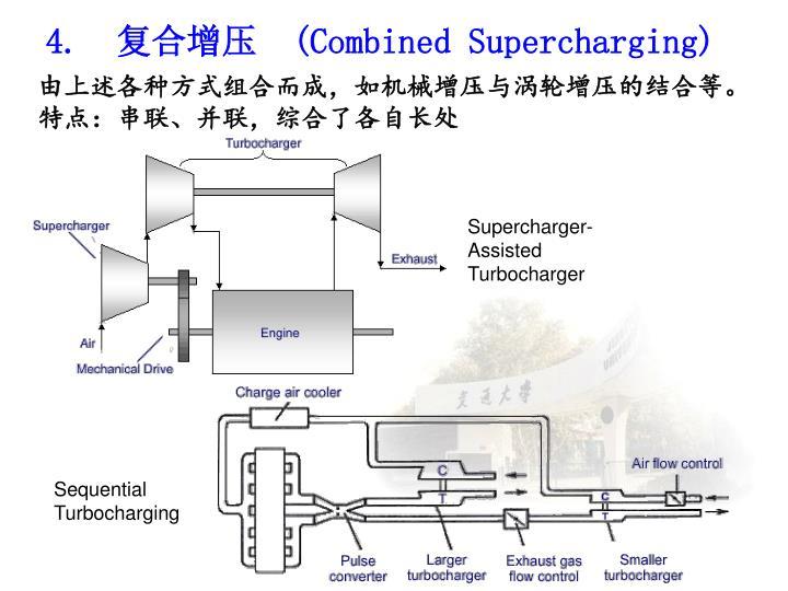 由上述各种方式组合而成,如机械增压与涡轮增压的结合等。
