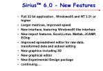 sirius 6 0 new features