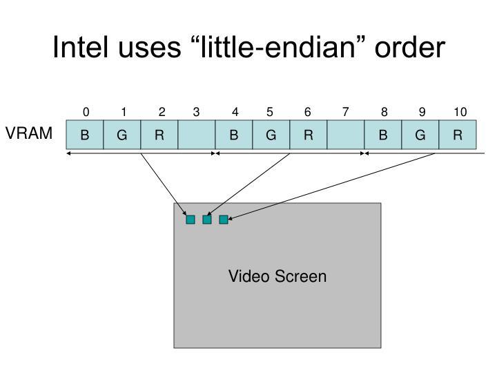 """Intel uses """"little-endian"""" order"""