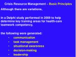 crisis resource management basic principles9