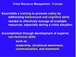 crisis resource management concept9