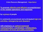 crisis resource management importance