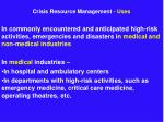 crisis resource management uses