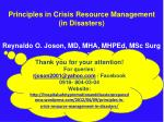 principles in crisis resource management in disasters1