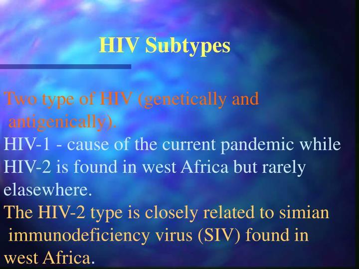 HIV Subtypes