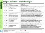 project structure work packages