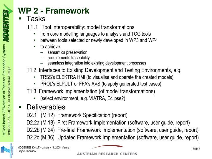 WP 2 - Framework