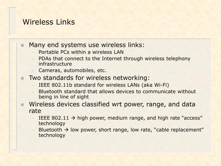 Wireless Links