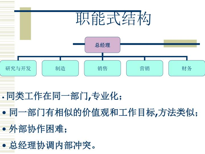职能式结构