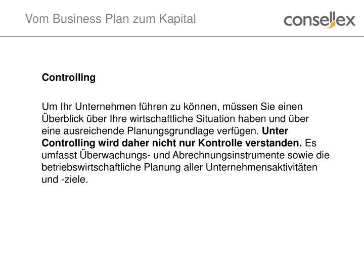 Vom Business Plan zum Kapital