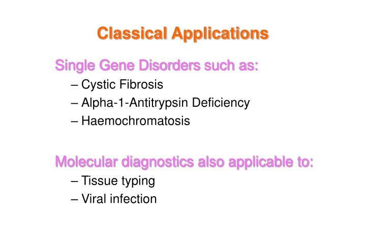 Classical Applications