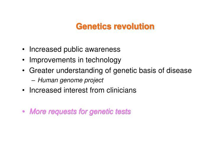 Genetics revolution