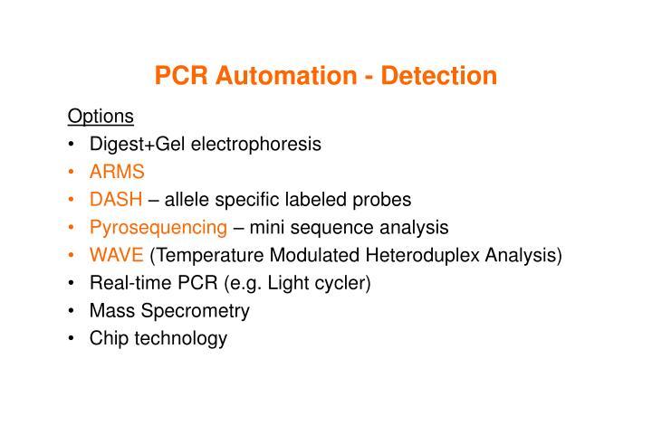 PCR Automation - Detection