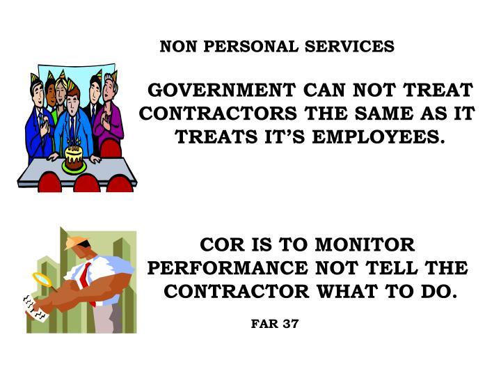NON PERSONAL SERVICES