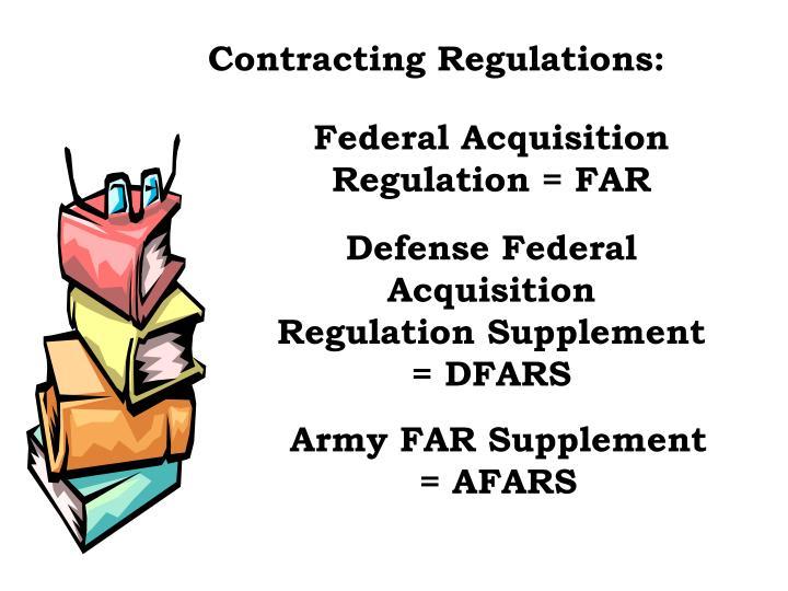 Contracting Regulations: