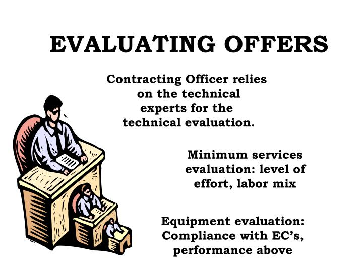 EVALUATING OFFERS