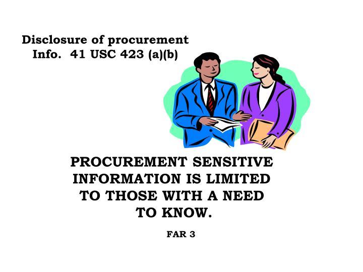Disclosure of procurement
