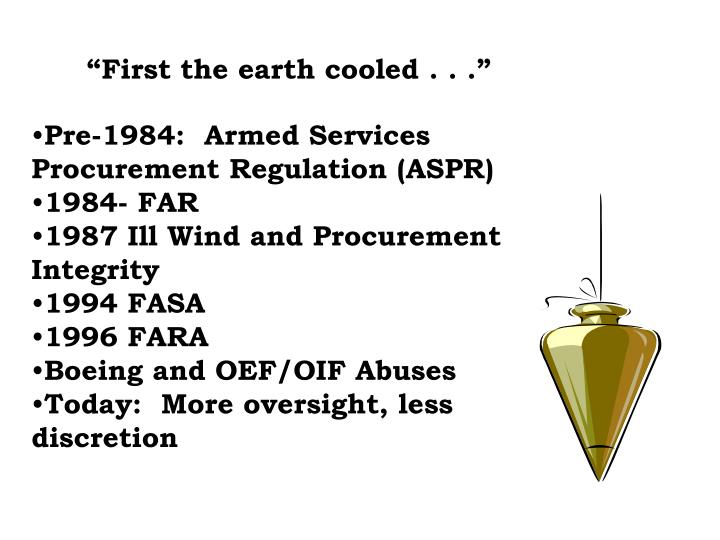"""""""First the earth cooled . . ."""""""
