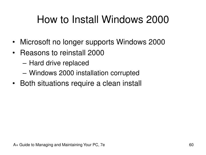 How to Install Windows 2000