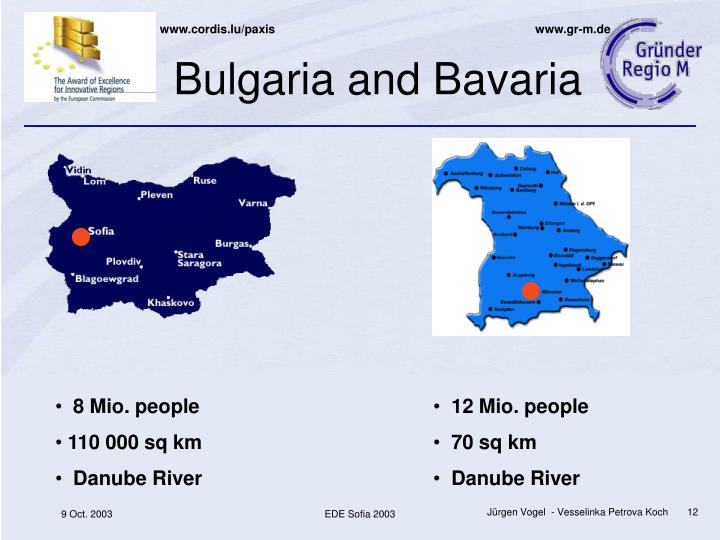 Bulgaria and Bavaria