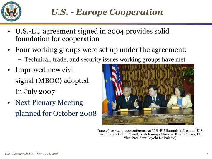 U.S. - Europe Cooperation