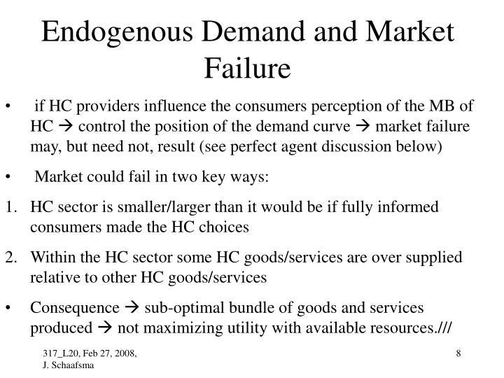 Endogenous Demand and Market Failure