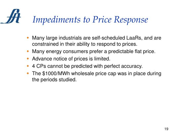 Impediments to Price Response