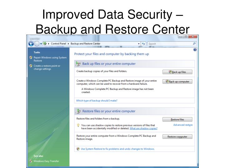 Improved Data Security –