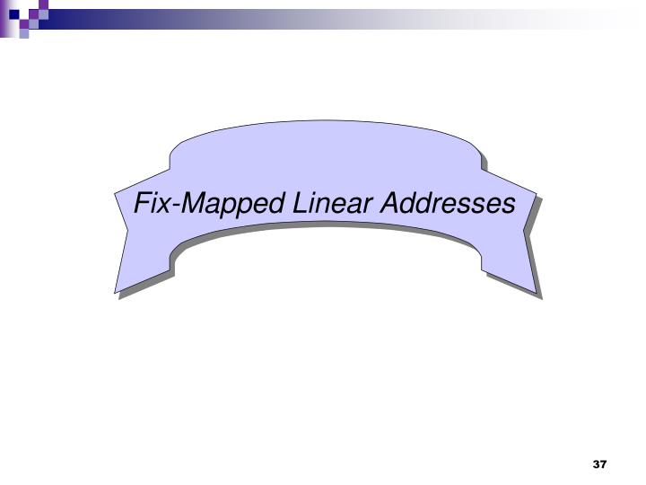 Fix-Mapped Linear Addresses