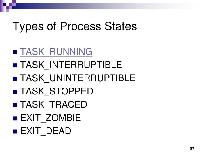 Types of Process States