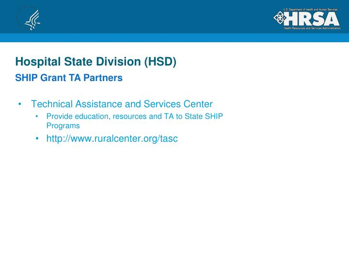 Hospital State Division (HSD)