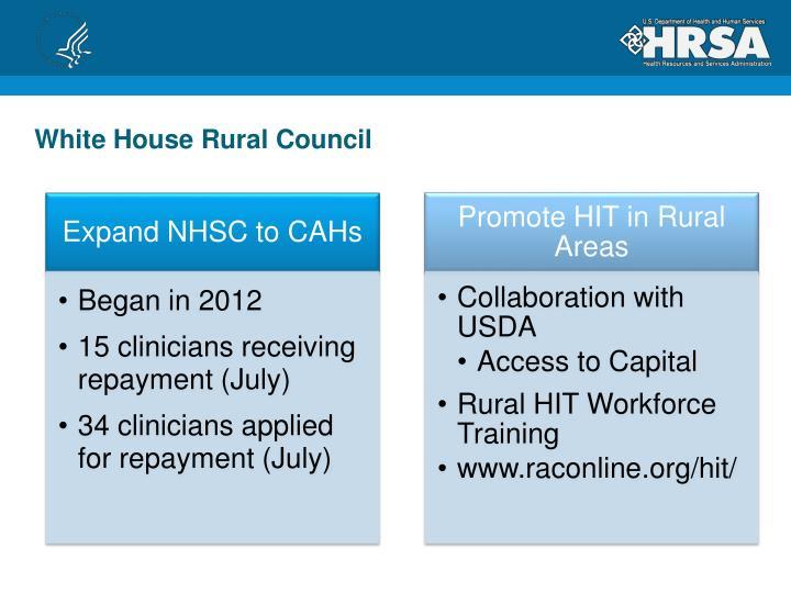 White House Rural Council