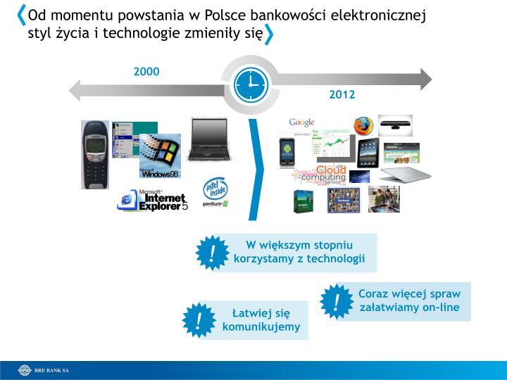 Od momentu powstania w Polsce bankowości elektronicznej