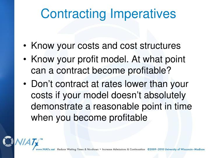 Know your costs and cost structures