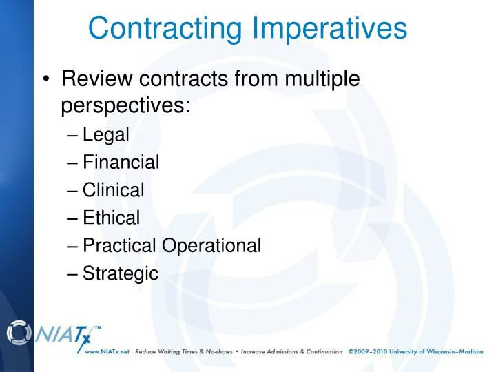 Review contracts from multiple perspectives: