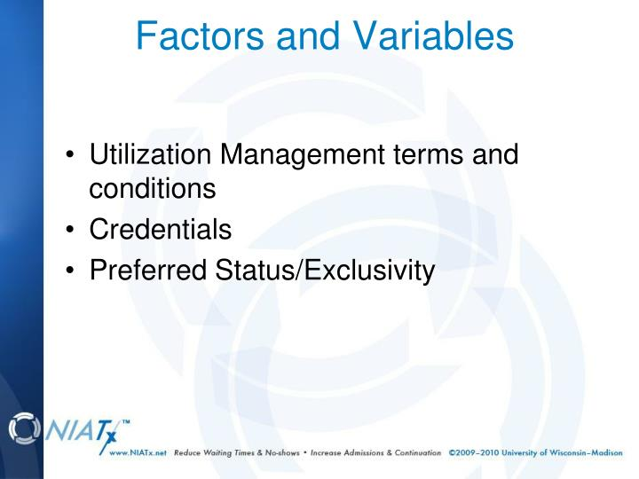 Utilization Management terms and conditions