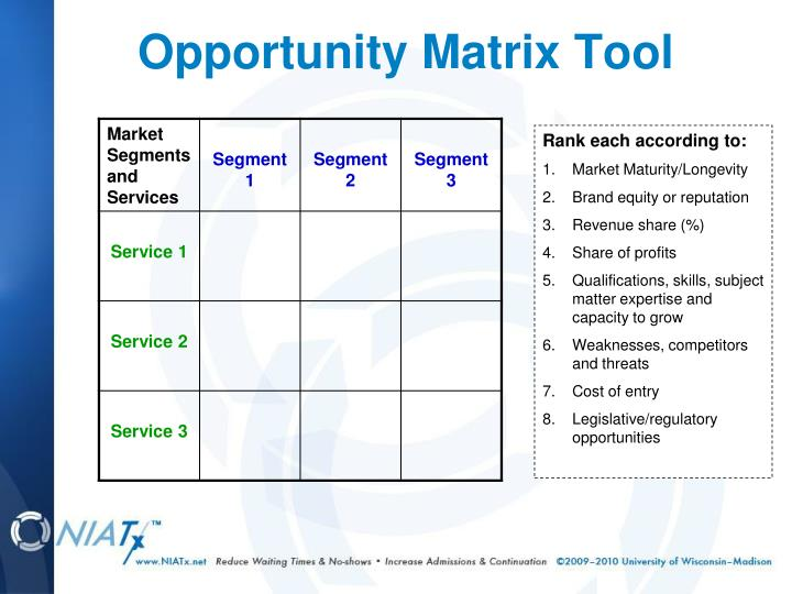 Opportunity Matrix Tool
