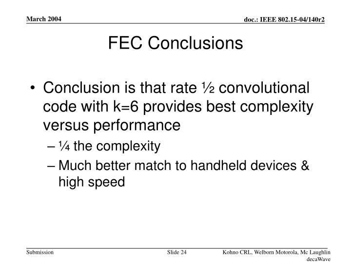 FEC Conclusions