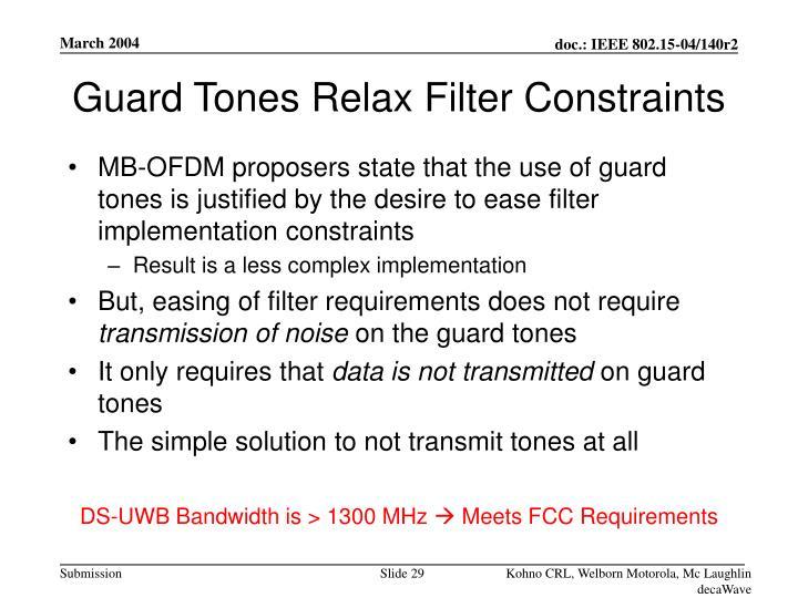 Guard Tones Relax Filter Constraints