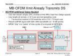 mb ofdm xmit already transmits ds