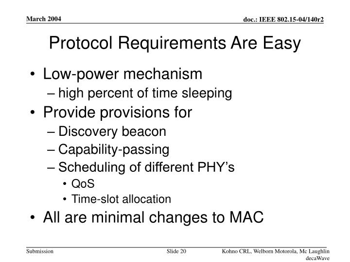 Protocol Requirements Are Easy