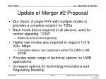 update of merger 2 proposal