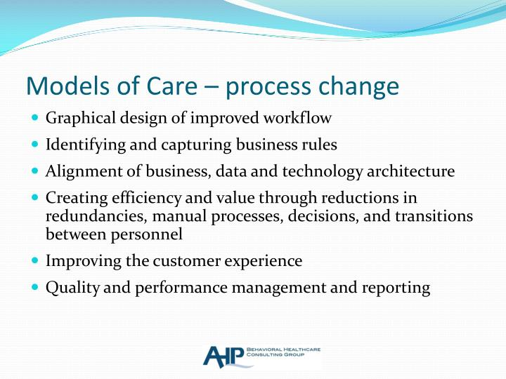Models of Care – process change