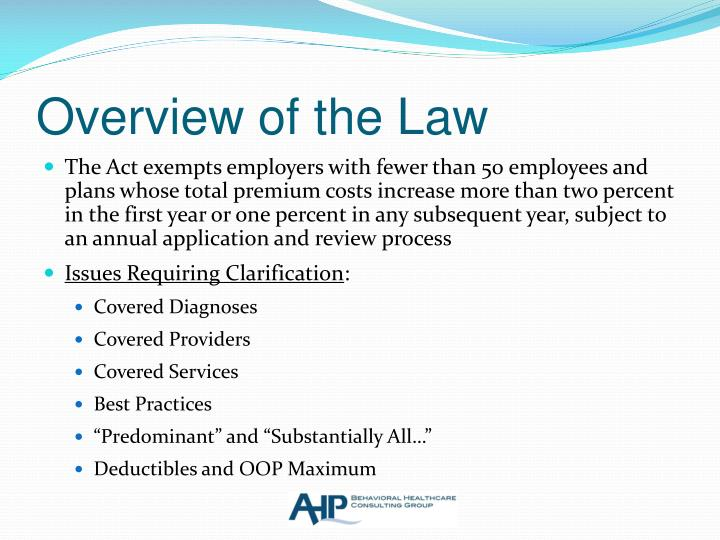 Overview of the Law