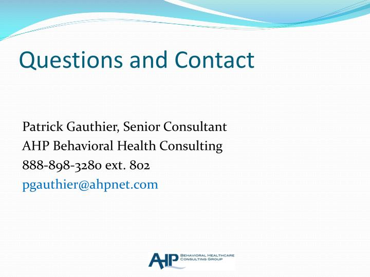 Questions and Contact