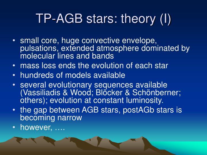 TP-AGB stars: theory (I)